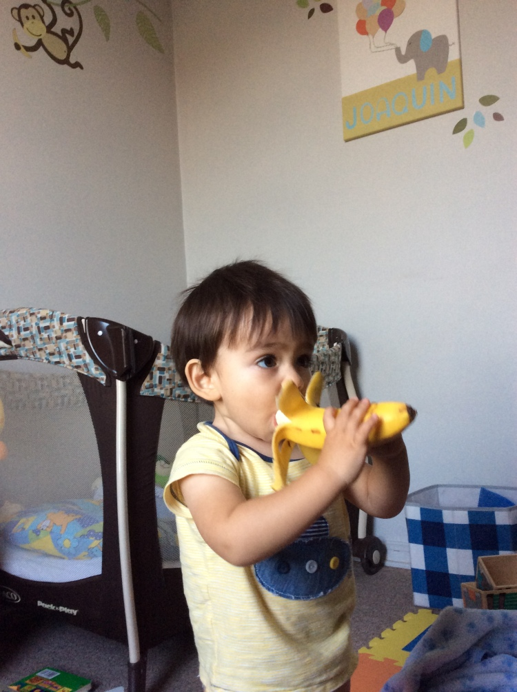 this child and his bananas